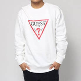 ゲス GUESS TRIANGLE LOGO L/S SWEAT (WHITE)