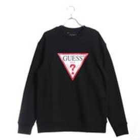ゲス GUESS TRIANGLE LOGO L/S SWEAT (BLACK)