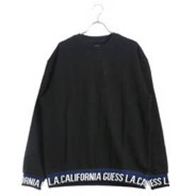 ゲス GUESS LIB LOGO L/S CREW SWEAT (BLACK)