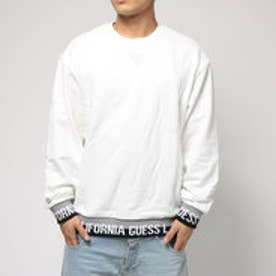 ゲス GUESS LIB LOGO L/S CREW SWEAT (WHITE)