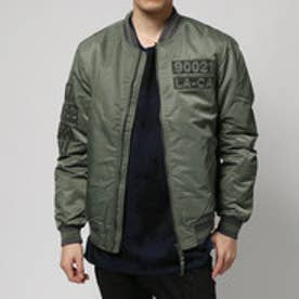 ゲス GUESS ICONIC BOMBER JACKET (LIGHT MOSS)