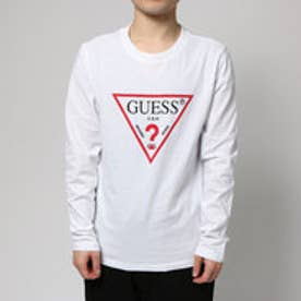 ゲス GUESS TRIANGLE LOGO L/S TEE (WHITE)