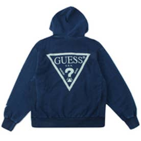 ゲス GUESS Originals TRIANGLE LOGO INDIGO PULLOVER PARKA (DARK BLUE)【JAPAN EXCLUSIVE ITEM】