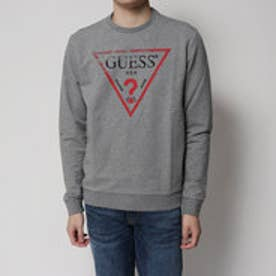ゲス GUESS TRIANGLE LOGO FLEECE SWEAT (MEDIUM CHARCOAL HEAT)