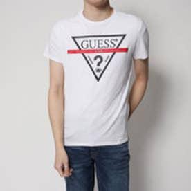 ゲス GUESS TRIANGLE LOGO TEE (TRUE WHITE)