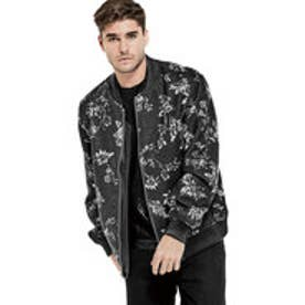 ゲス GUESS HARLAN KNIGHTS BOMBER JACKET (KNIGHTS FLORAL ALLOVER BLACK)