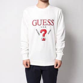 ゲス GUESS LOGO CREW SWEAT (IVORY)