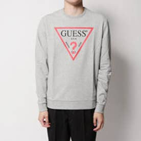 ゲス GUESS MASON TRIANGLE LOGO CREW SWEAT (LIGHT HEATHER GREY)