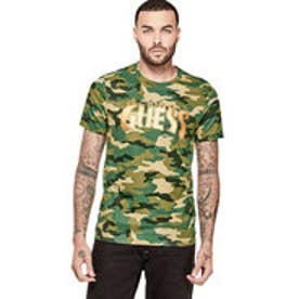 ゲス GUESS FIRE GRAPHIC TEE (TRADITIONAL CAMO GREEN)