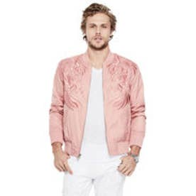 ゲス GUESS NYLON EAGLE BOMBER JACKET (ROSE POUT MULTI)