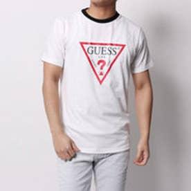 ゲス GUESS TRIANGLE LOGO TEE (WHITE)