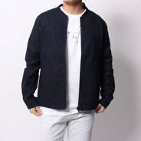 ゲス GUESS LINEN BOMBER JACKET (DARK NAVY)