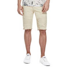 ゲス GUESS DESTROYED SLIM MOTO SHORT (VOYAGER WASH KHAKI W/ DESTROY)