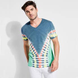 ゲス GUESS TIE-DYE V-NECK TEE (REEF BLUE MULTI)