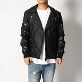 ゲス GUESS BAD BOY PERFECTO JACKET (JET BLACK)