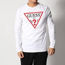 ゲス GUESS L/S TRIANGLE LOGO ORIGINAL TEE (TRUE WHITE)
