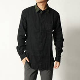 ゲス GUESS CAMICIA REVERSIBLE CAMOUFLAGE SHIRT (JET BLACK)