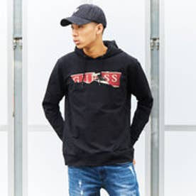 ゲス GUESS JIMMY HOODIE FLEECE PARKA (JET BLACK)