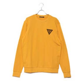ゲス GUESS SMALL TRIANGLE LOGO SWEAT (MUSTARD)