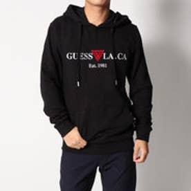 ゲス GUESS LA.CA LOGO PULLOVER PARKA (BLACK)