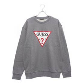 ゲス GUESS TRIANGLE LOGO SWEAT (MELANGE GREY)