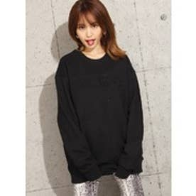 ゲス GUESS EMBOSS LOGO SWEAT (BLACK)