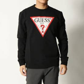 ゲス GUESS TRIANGLE LOGO SWEAT (JET BLACK)