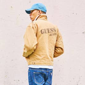 ゲス GUESS LOGO WORK JACKET (SAND BEIGE)