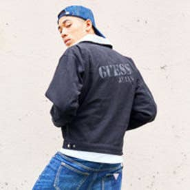 ゲス GUESS LOGO WORK JACKET (CHARCOAL GREEN)
