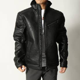ゲス GUESS ECO-SHEARLING JACKET (JET BLACK)