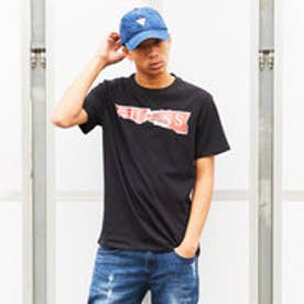 ゲス GUESS RIPPED LOGO TEE (JET BLACK)