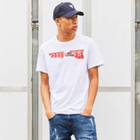 ゲス GUESS RIPPED LOGO TEE (TRUE WHITE)