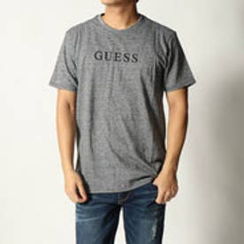 ゲス GUESS CALE JERSEY  LOGO CREW TEE (LIGHT HEATHER GREY)