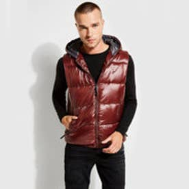 ゲス GUESS LOGAN HOODED PUFFER VEST (REZNOR RED)