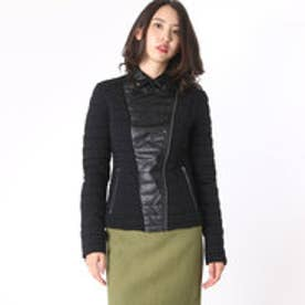 ゲス GUESS YELENA JACKET (JET BLACK W/ FROST GREY)