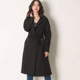ゲス GUESS LOOSE FIT TRENCH COAT (BLACK)