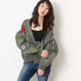 ゲス GUESS LADIES PATCH PADDING JACKET (KHAKI)
