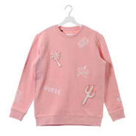ゲス GUESS LADIES L/S CREW SWEAT (PINK)