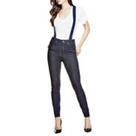 ゲス GUESS SUSPENDER SUPER HIGH-RISE DENIM PANT (RINSE WASH)