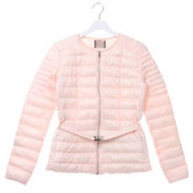 ゲス GUESS NADIE QUILTED JACKET WITH BELT (SILVER PEONY)