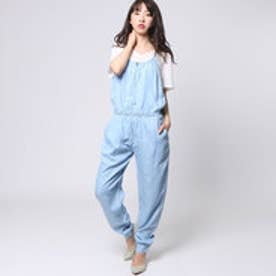 ゲス GUESS CHAMBRAY JUMPSUIT (SUPER BLEACHED WASH)