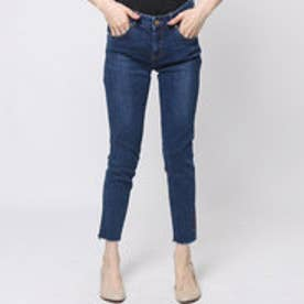 ゲス GUESS LOW-RISE SUPER SKINNY CUT OFF DENIM PANT (DARK BLUE)