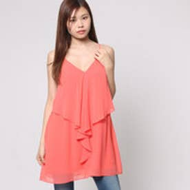 ゲス GUESS SL SADIE RUFFLE DRESS (CORAL PUNCH)