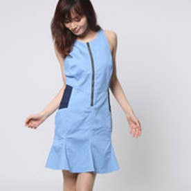 ゲス GUESS JEANCARE FLARED DENIM DRESS (SILICONE RINSE)