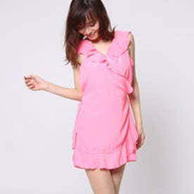 ゲス GUESS SL SOLID RUFFLE ROMPER (AWESOME PINK)