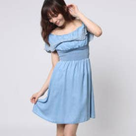 ゲス GUESS FLOUNCES DENIM DRESS (COTE D AZUR)