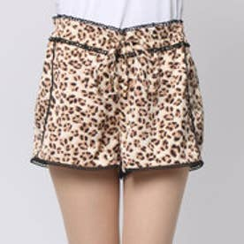 ゲス GUESS PULL ON LACE TRIM SHORT (AFRICAN CHEETAH MULTI)