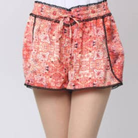 ゲス GUESS PULL ON LACE TRIM SHORT (SPICE MARKETS GYPSY RED)