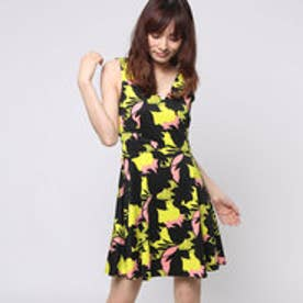 ゲス GUESS MOROY DRESS (KISS AND FLY FLOWER COMBO)