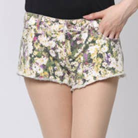 ゲス GUESS DAISY FLORAL PRINT LOW-RISE DENIM SHORTS (ENZYME STONE)